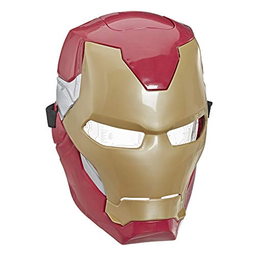 Avengers Marvel Iron Man Flip FX Mask with Flip-Activated Light Effects for Costume & Role-Play Dress Up