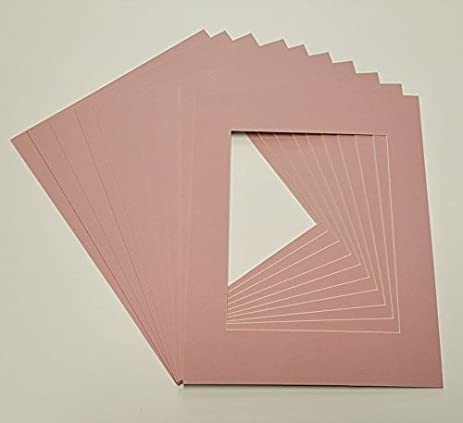 Amazon.com - Soft Pink 8x10 White Picture Mats with White Core for ...