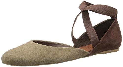 Bernardo Women's Sydney Ballet Flat,Mink Suede/Chocolate Suede,6 M US