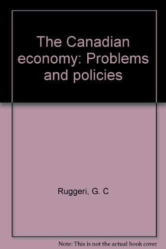 The Canadian economy: Problems and policies for sale  Delivered anywhere in USA