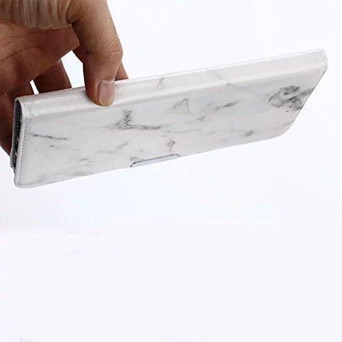 YHUISEN Textura De Piedra De Mármol Textura PU Cuero TPU Inner Flip Cartera Caja De Protección Con Ranura De Tarjeta / Soporte Para Xiaomi Mi Max ( Color : Black ) White
