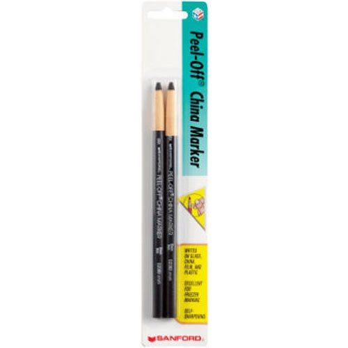 - Sharpie 2173PP Peel-Off China Markers, Black, 2-Count