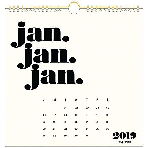 Emily + Meritt 2019 Monthly Wall Calendar, 12