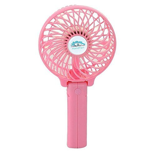 Unifire®rechargeable Fans Handheld Mini Fan Battery Operated Electric Personal Fans with Foldable Fans Hand Bar Desktop Fan Hand Fans (Pink) by UniFire®