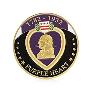 Coin Souvenir - Military Merit Purple Heart Commemorative Challenge Coin Collectible Physical Shipping - Coins Military Coin Collectibles Currency Coins Army Coin Military Love Guangxu Silve from MeetCraig