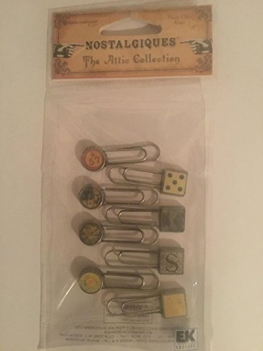 Rebecca Sower Designs Nostalgiques The Attic Collection Paper Clips Icons Nice! $5.99 retail