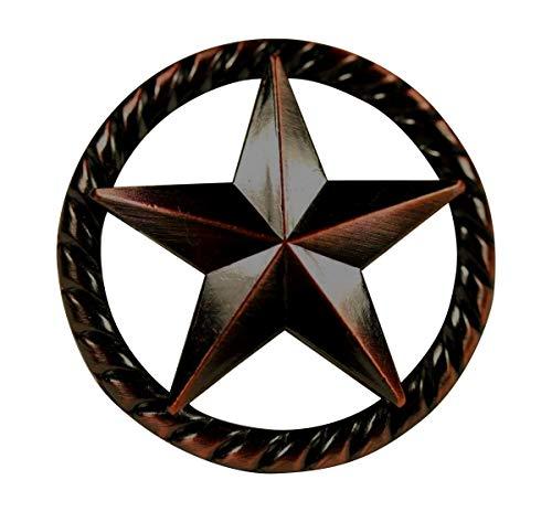 Raised Star KNOB ORB Western Cabinet Hardware Drawer Pulls Texas Star -