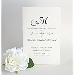 Wedding Programs, Black and White Wedding Booklets, The Natalie Wedding Program Sample