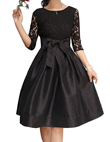 Buy belted lace a line dress - 9