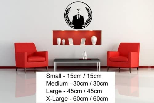 Laptop //Wall Sticker Decal Removable Anonymous Crest ANON Globe Suit Vinyl Car