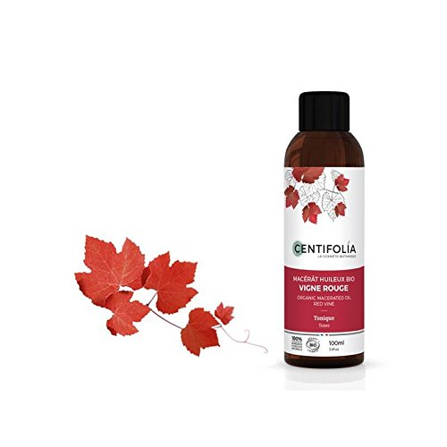CENTIFOLIA - Red Grapevine Organic Macerated Oil - Toning, Antioxidant - Ideal for fragile capillaries, heavy legs, cellulite - 100 ml
