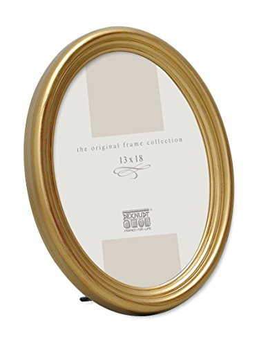Matt Gold Oval / Oblong Picture / Photo Frame with Stand * 13 x 18 cm / 5 x 7 inch ()