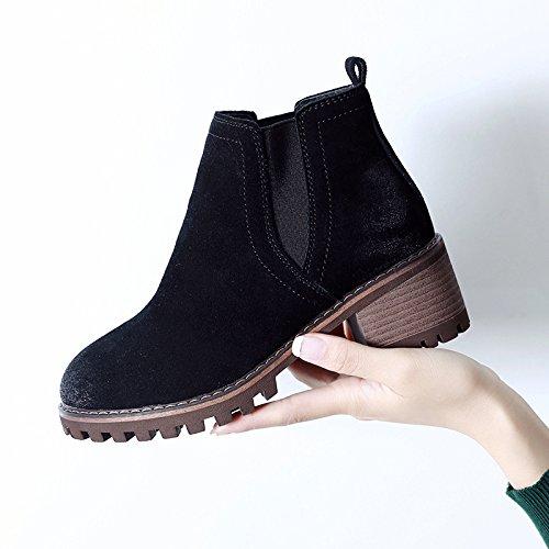 Maquis Dans Avec Shoeshaoge Rude Unie De Le Chaussures L'automne Courtes Et Femmes Printemps Martin D'hiver Bottes Couleur Cf7Cq