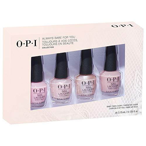 - OPI Always Bare For You Collection, Nail Lacquer 4pc Mini Pack