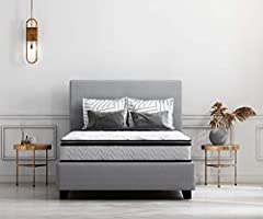 Top comfort with endless possibilities for restful sleep with this 10-Inch Full innerspring pillow top mattress. You'll love the inviting feel of its soft top surface with high density quilt Foam. The firming pad and high density body foam wo...