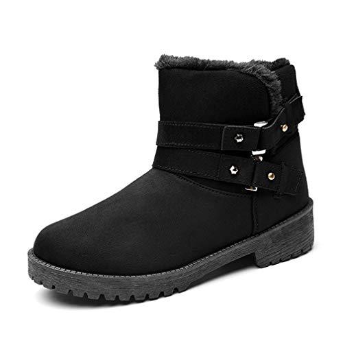 Drew Toby Women Snow Boots Winter Warm Non-Slip Wear-Resistant Round Toe Booties