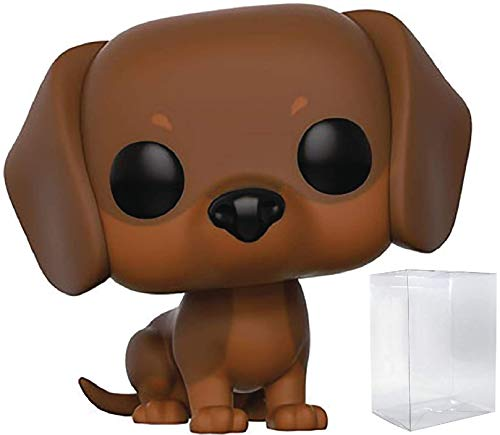 Funko Pop! Pets: Pets - Brown Dachshund #07 Vinyl Figure (Bundled with Pop Box Protector Case)