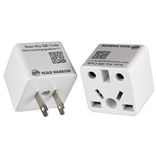 [2 Pack] ROAD WARRIOR US Travel Plug Adapter EU/UK/CN/AU/IN to USA (Type A) - RW111WH-US (Best Cheap Smartphone In Uae)