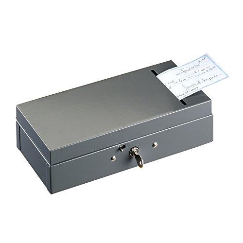 STEELMASTER Steel Bond Box with Check Slot, Keyed Lock, Gray (221104201) (Steelmaster Lock)
