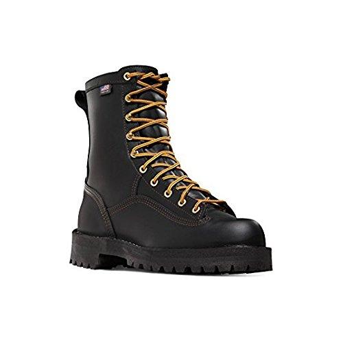 Danner Women's Quarry USA 8'' Black Vibram Sole Oil & Slip Resistant | Made In USA Waterproof Gore-TEX (GTX) | Modern Battlefield Combat Boot | Electrical Hazard Boot Leather (9 M)