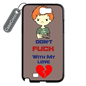 CASECOCO(TM) Ed Sheeran Samsung Galaxy Note 2 Case - Protective Hard Back / Black Rubber Sides Case for Samsung Galaxy Note 2 by runtopwell