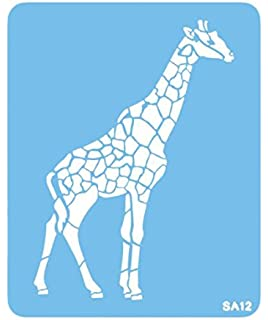 Giraffe Wild Animal Zoo Mylar Airbrush Painting Wall Art Crafts Stencil 2