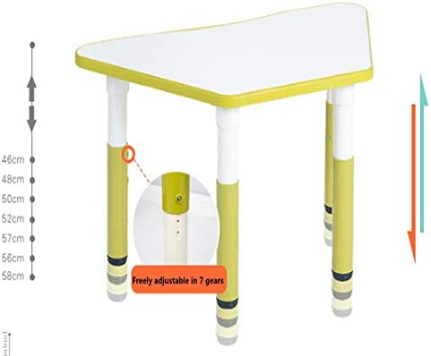 Escritorio Infantil Niños poligonal mesa de plástico, Ascensor ...