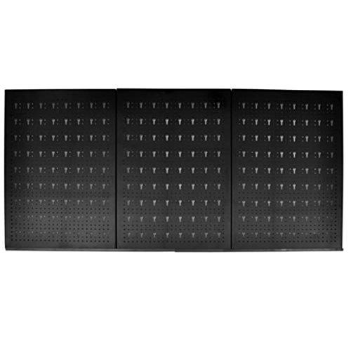 vidaXL Pegboard Panels Tool Organizer 24''x47''Metal Standard Tool Storage Kit w/18 Hooks by vidaXL