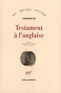 Testament à l'anglaise, Coe, Jonathan