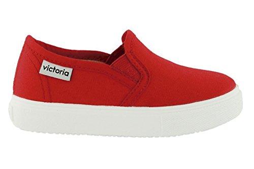 Rojo Adulto Lona Unisex Victoria Zapatos On Slip HFnqYf