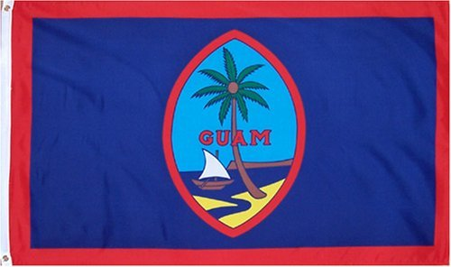 Guam National Country Flag   3 Foot By 5 Foot Polyester  New