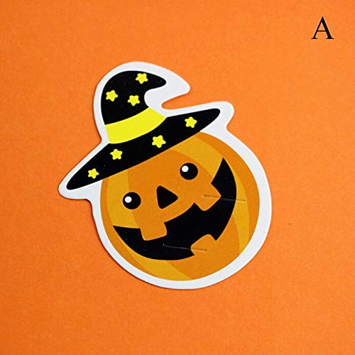 Party Diy Decorations - 50pcs Halloween Pumpkin Ghost Diy Gift Candy Decor Paper Cards Cute Reward Message Lollipop Kid - Decorations Party Party Decorations Lollipop Card Paper Butterfly]()