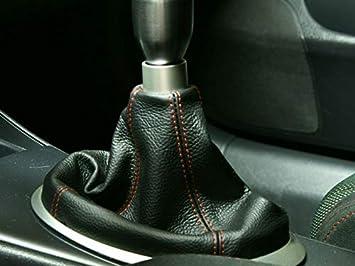 Medium Gray Leather-Black Thread RedlineGoods Shift Boot Compatible with Honda Civic 2001-05