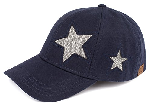 H-206-4231 Heart and Star Cotton Baseball Hat - STAR/Navy