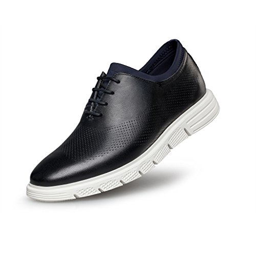 ZRO Men's Lace-Up Casual Fashion Sneakers Breathable Athletic Sports Shoes Black US 8 by ZRO
