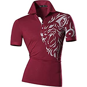 jeansian Men's Casual Slim Fit Short Sleeves Polo Shirt T-Shirt Tee Tops U007