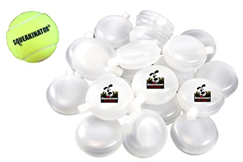 Downtown Pet Supply 30 Replacement Squeakers, Variety Pack (10 Medium, 10 Bellowed, and 10 Large Squeakers) + FREE Tennis Ball that SQUEAKS, THE SQUEAKINATOR by Downtown Pet Supply (Image #3)