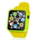 Fashion Smart Music Watch Kids Toddler Wrist Touch Button Battery Watch Toys Digital Watch for...