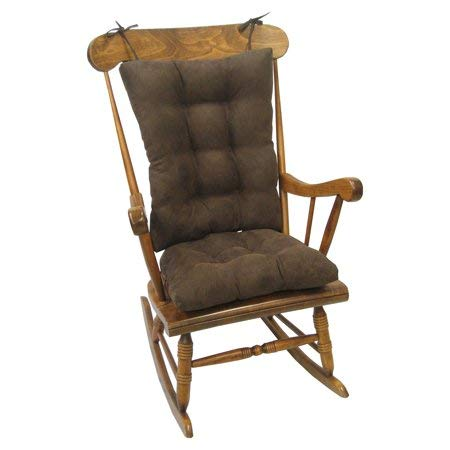 Klear Vu Rocking Chair Cushion Gripper Twillo Jumbo in Chocolate/Brown