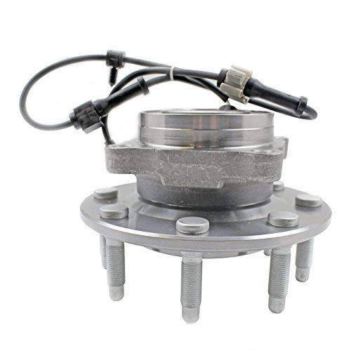 CRS NT515058 New Wheel Bearing Hub Assembly, Front Left/ Right, for Chevy K2500 (Suburban), Silverado 1500 (HD)/ 2500 (HD)/ Avalanche 2500, GMC Sierra 1500 (HD)/ 2500 (HD)/ Yukon (XL) 2500, Hummer H2