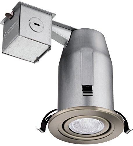 Nickel Gimbal - Lithonia Lighting LK3GBN LED LPI M6 3 Inch Gimbal Kit with LED Lamp Included in Nickel