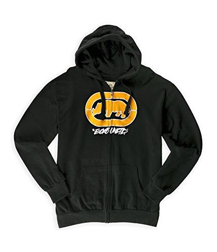 Ecko Unltd Men's Cross Country Fleece Zip Up Hoodie-Black-Large