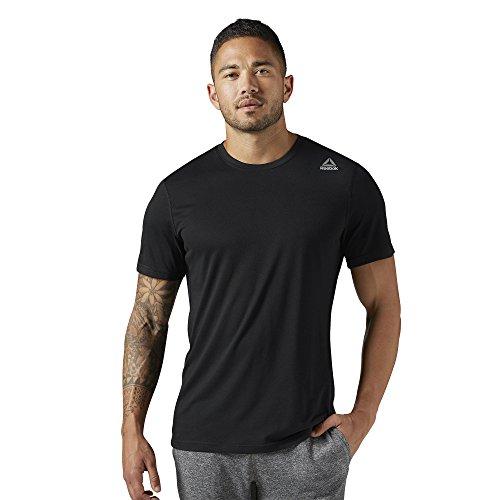 Reebok Supremium Tee Shirt for Men, Black, Large