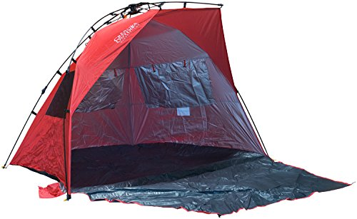 Creative Outdoors 93x93x54-Inch Family Instant Pop Up Tent with Sun Shelter and Bag, Red