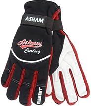 Asham Element Women's SUPERIOR GRIP Curling Gloves (Large) - Best in COMFORT & DESIGN - Leather Palm &