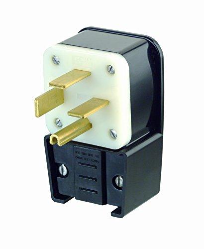 - Leviton 8462-P 60 Amp, 250 Volt- 3PY, Straight Blade, Plug, Industrial Grade, Grounding, Angle, Black