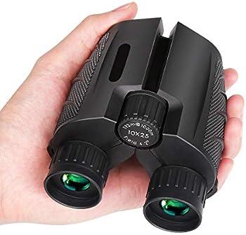 Mieuxbuck 10x25 Compact Binocular with Low Light Night Vision (0.5lb)