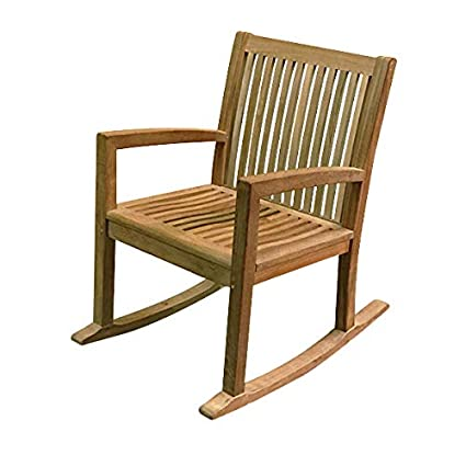 Outstanding Amazon Com Atlanta Teak Furniture Teak Rocking Chair Gmtry Best Dining Table And Chair Ideas Images Gmtryco