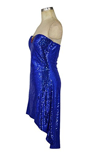 FOLOBE Mujer la Vestido Lentejuelas de Fiesta Vestido Noche A de de qprBtwxEqn