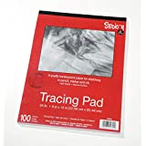 """Darice 9""""x12"""" Artist's Tracing Paper, 100 Sheets – Translucent Tracing Paper for Pencil, Marker and Ink, Lightweight, Medium Surface (97490-3)"""